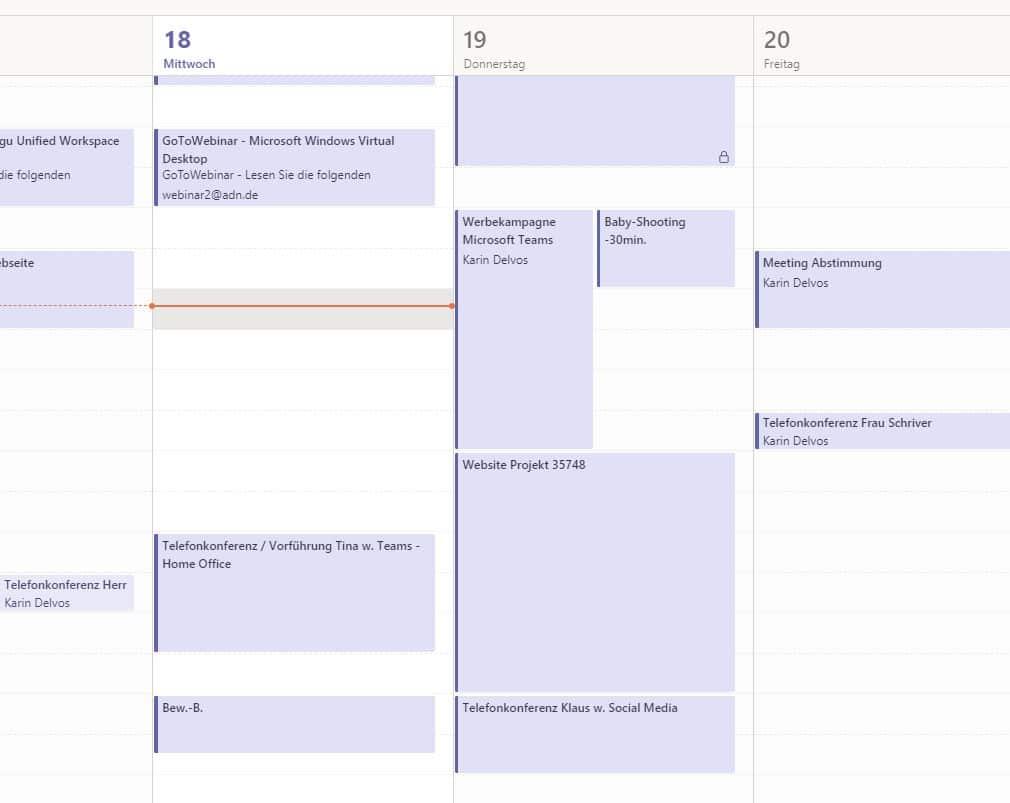 Teamkalender Microsoft Teams Keepsmile Design Castrop-Rauxel
