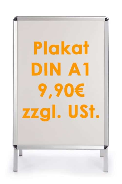Plakat für Kundenstopper im Format A1 bei Keepsmile Design
