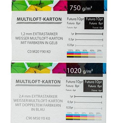 Exklusive Visitenkarten / Business Cards mit Farbkern bei Keepsmile Design
