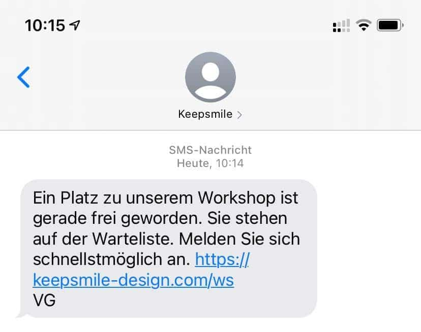 SMS-Marketing-Kampagne mit Sendinblue und Keepsmile Design, Castrop-Rauxel (Ruhrgebiet)