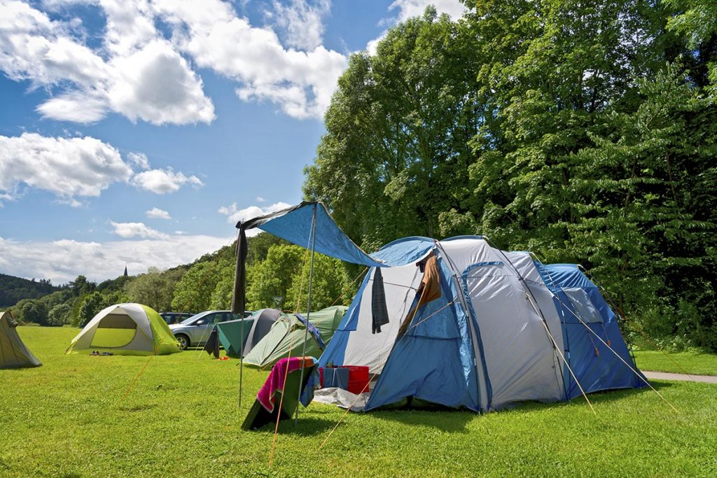Zelt auf Campingplatz - Website-Angebot von Keepsmile Design, Castrop-Rauxel