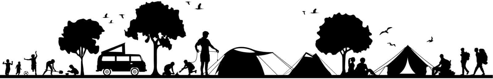 Silhouette vom Campingplatz - Website-Angebot von Keepsmile Design, Castrop-Rauxel