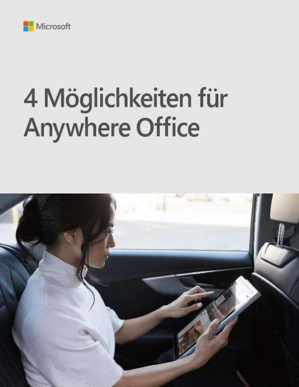 Microsoft eBook 4 Möglichkeiten für das Anywhere Office mit Microsoft Surface