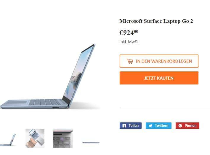 Beispiel Ansicht Online-Shop Shopify