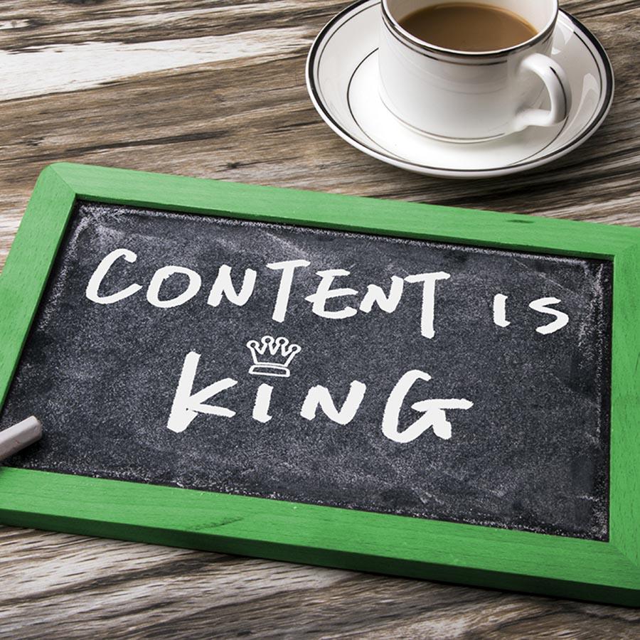 Content is King bei der Website-Erstellung