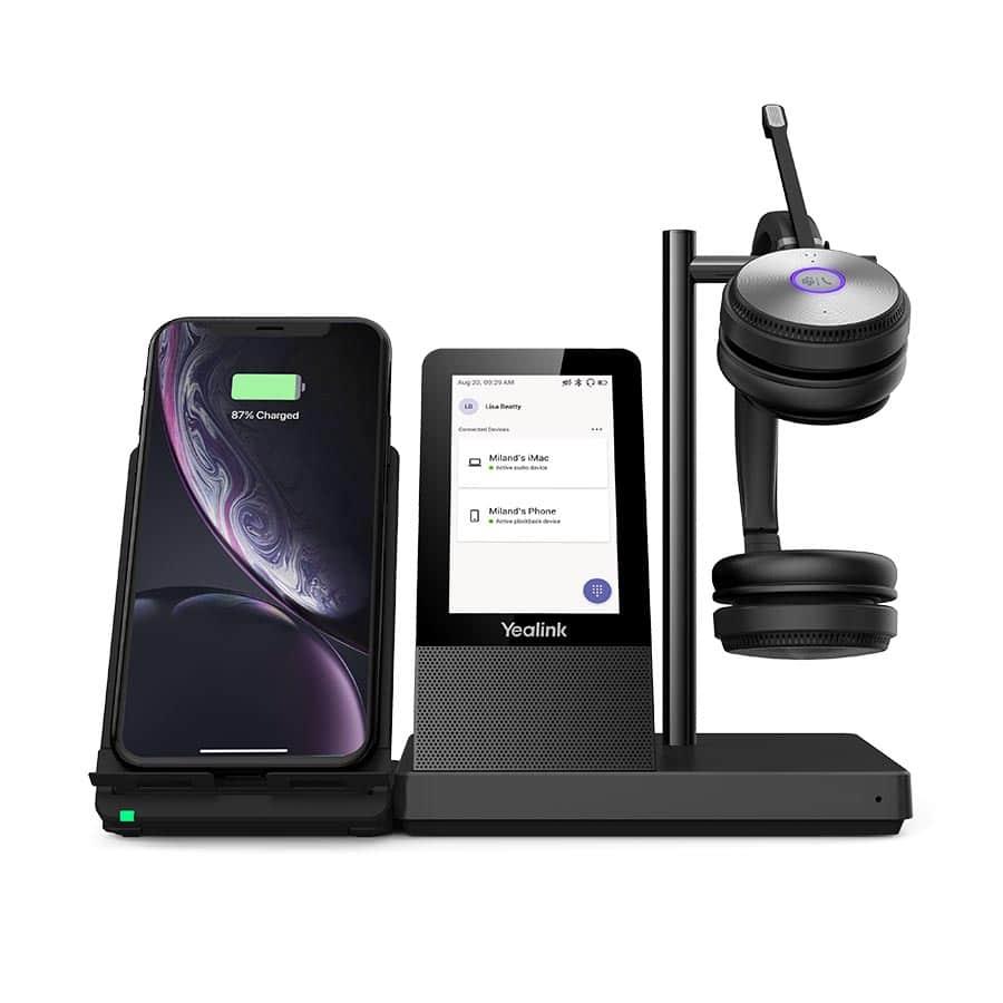 WH66 mit der Erweiterung um die Ladeschale für Mobiltelefone