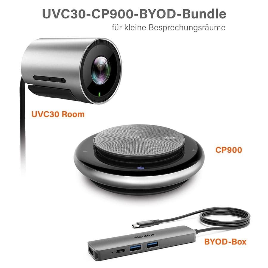 Yealink UVC30-CP900-BYOD-Bundle für kleine Besprechungsräume